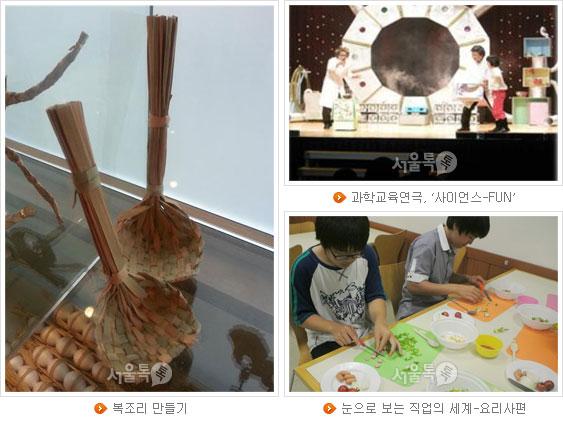 복조리 만들기, 과학교육연극, `사이언스-FUN`, 눈으로 보는 직업의 세계-요리사편(왼쪽부터 시계방향으로)