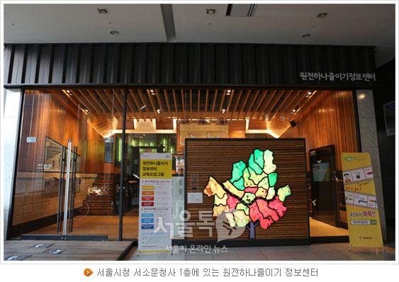 서울시청 서소문청사 1층에 있는 원전하나줄이기 정보센터