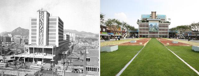 1967년 세운상가 개관, 세운상가 초록띠공원