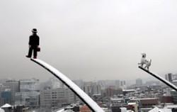 고요하게 눈 덮인 서울