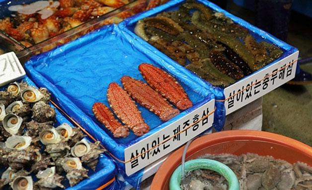 수산시장 해삼