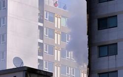 지난 10일 의정부에서 일어난 아파트 화재 현장 ⓒ뉴시스