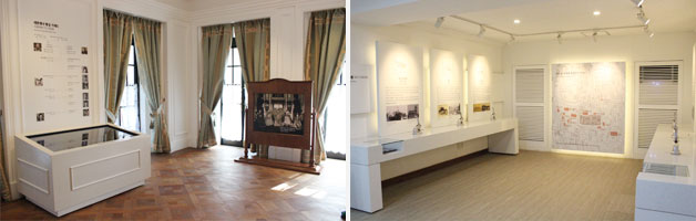 황실 가계도와 애국지사의 사진들이 전시되어 있다