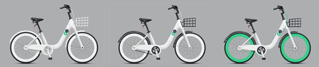 자전거 디자인 기본형 (3종)