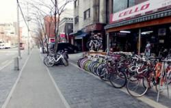 자전거 거리답게 자전거 전용도로가 잘 나 있다
