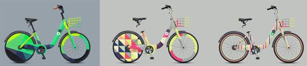 자전거 디자인 이색 (3종)