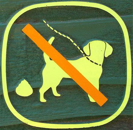 애완동물 배설물 처리 표식