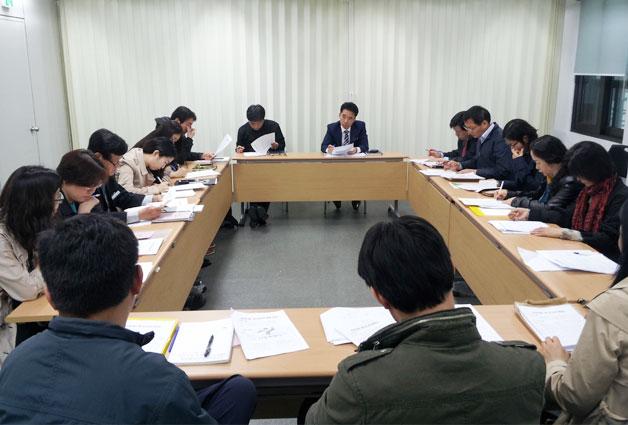 금융전문가, 변호사, 상담사 등이 참석한 사례관리위원회