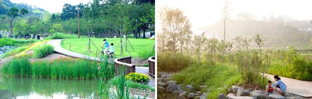 북서울 꿈의 숲 ⓒ슈퍼맨 (좌), 푸른 수목원 ⓒArrietty (우)