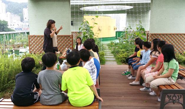 금천구 탑동초교 옥상 자연학습