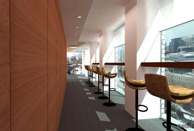 서소문청사 1동 13층에 마련된 전망대 공간 ⓒ서울시