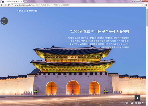 내 손안에 서울 기사를 활용한 콘텐츠 화면 ⓒ비주얼다이브