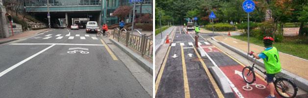 자전거 우선도로, 자전거 현장교육 진행