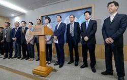 지난 8일 오후 서울시와 서울시 의사회가 '메르스 대응 서울시와 서울시 의사회 공동선언문 발표'를 하고 있다.ⓒ뉴시스