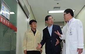 박원순 시장, 인제대 상계백병원 찾아 상황 점검