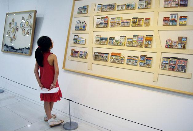 하늘광장갤러리에서 열리고 있는 집 전시회