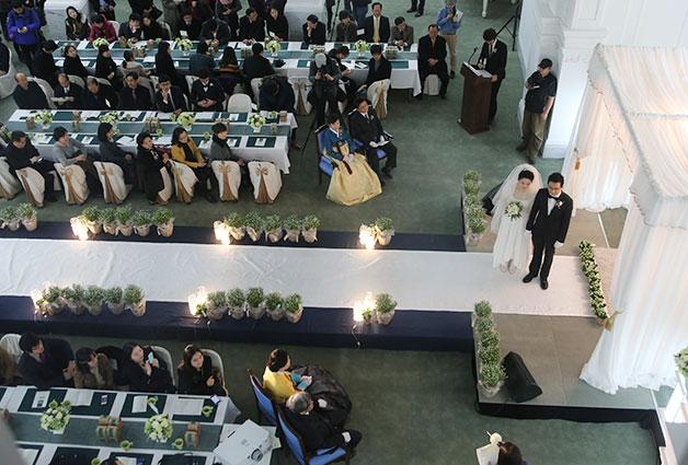 결혼식이 열리는 시민청 태평홀