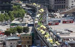 지난 5월 10일 서울역고가 개방의 날 행사 현장ⓒ연합뉴스
