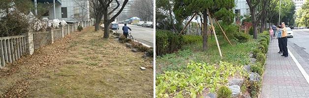 동작구 신대방 우성아파트 공사 전과 후의 모습