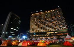 서울광장에서 즐기는 이색캠핑ⓒ호호