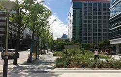 금천구 월드메르디앙벤처센터2차 녹지공간 조성 모습