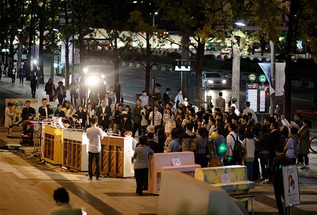 `2014 달려라 피아노 페스티벌` 광화문 거리 공연장