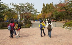 방화산둘레길이 시작되는 곳의 가을 풍경