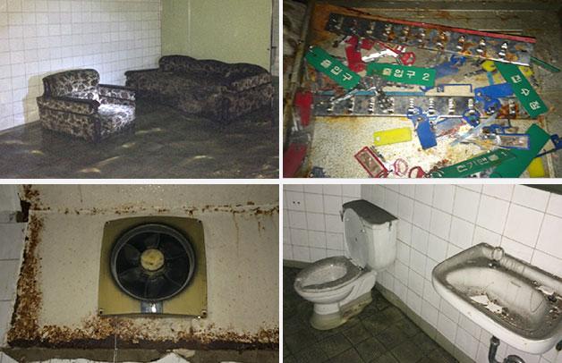 2005년 발견 당시 벙커 내부 시설 모습. 소파와 열쇠박스 등은 원본과 유사하게 복원해 전시될 예정이다. 오래된 환풍기와 화장실은 시민들의 안전한 관람을 위해 전면 교체됐다.