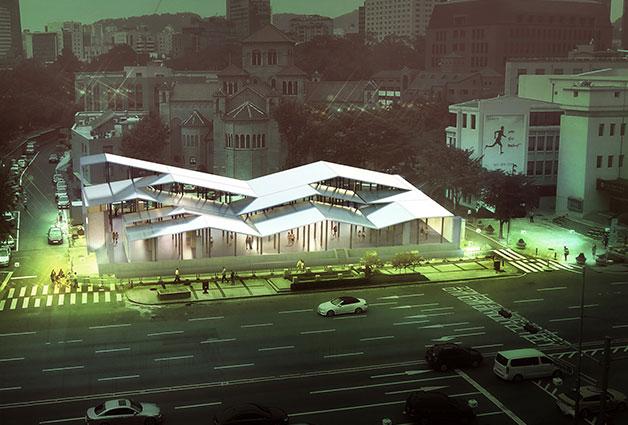 (구) 국세청 남대문별관 터에 마련될 임시전시장 `파빌리온`