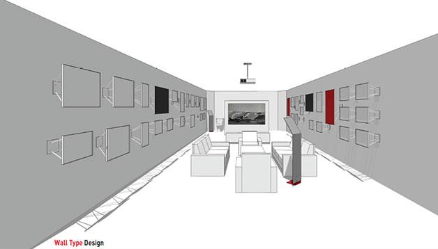 여의도 역사갤러리로 조성된 작은 방