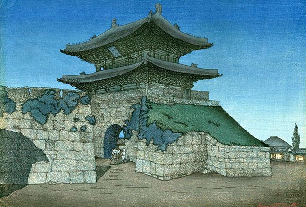 〈달빛 아래 동대문>, 엘리자베스 키스, 1920년, 송영달