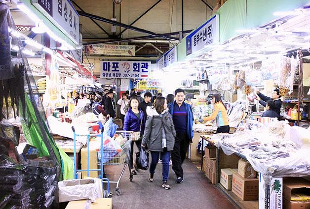 농산물시장, 수산물시장 운영시간이 상이하니 확인하고 방문해야 한다