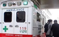 환자 이송을 위한 구급차량