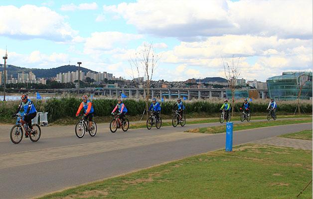 반포한강공원 자전거 도로