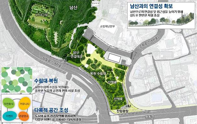 남산 예장자락 재생사업 계획 관련 공원구상안