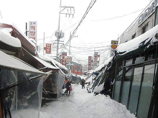 눈이 많이 내렸던 어느 겨울, 신월6동의 마을 풍경