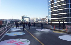 12월 25일 성탄절에 열린 서울역고가 시민개방의 날