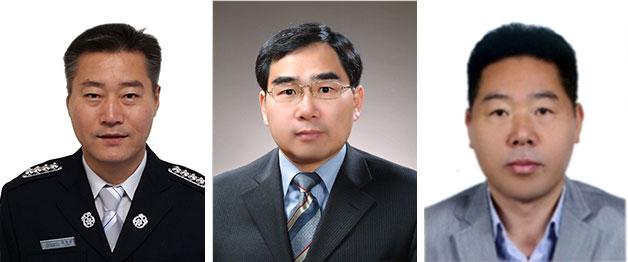 왼쪽부터 정종관 소방장, 임병옥 팀장, 김종복 팀장