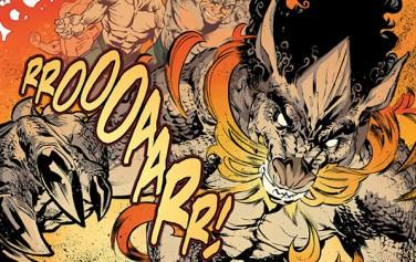 최근 마블 코믹스에 등장한 신인 히어로 해치(Haechi)가 변신하는 모습ⓒwww.comicvine.com 재인용