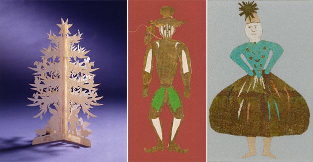 안데르센이 만든 크리스마스트리와 크리스마스 장식 인형들