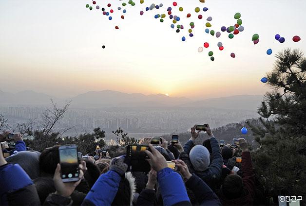 아차산 해맞이 광장 ⓒ광진구