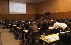 자신의 사업에 대해 발표하는 서울시 사회적경제기업 후보 기업