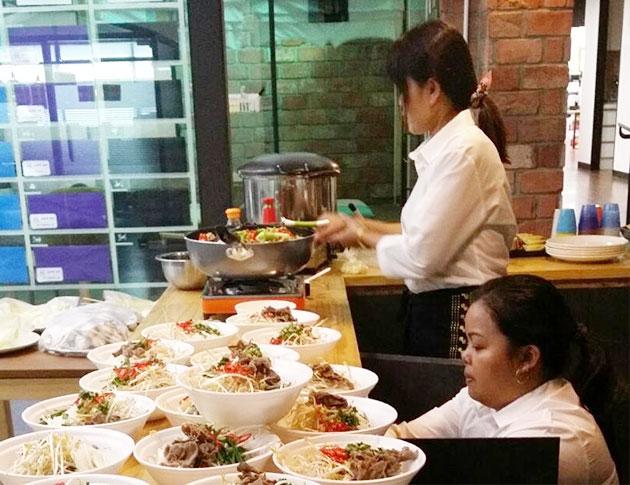 `수요밥상`을 준비하는 모습