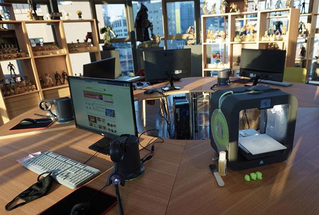 5층엔 3D 프린터를 이용해 인기 캐릭터를 직접 만들어 볼 수 있는 공간이 마련됐다