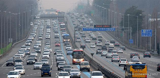 서울로 향하는 귀경 차량들ⓒ뉴시스