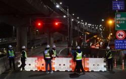 서울시 안전점검 중 발견된 정릉천고가 중대결함으로 통제된 내부순환로ⓒ뉴시스
