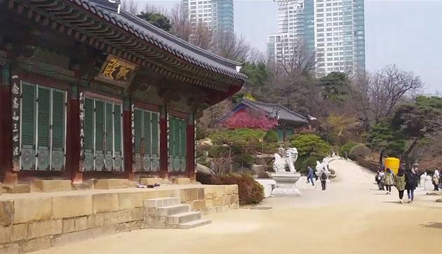 추사 김정희의 마지막 글씨가 걸린 판전