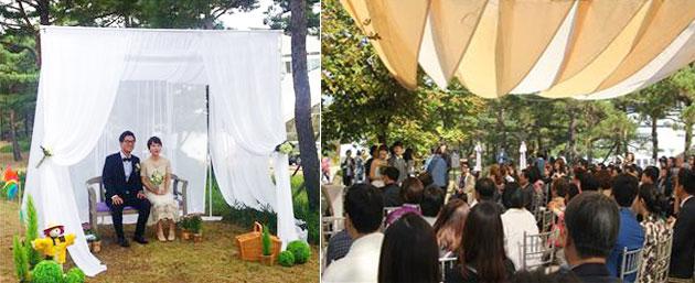2015년 소풍결혼식장의 신랑,신부