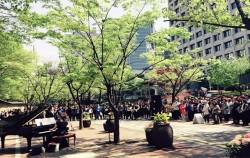 `문화가 있는 거리` 행사로 공연이 펼쳐지고 있는 덕수궁길