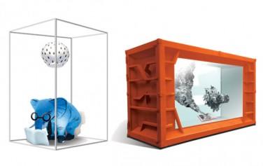이정윤 작가, 해우소 : 지금, 여기에 근심을 풀다(부제 : 현대인의 도서관)(좌), 강주리 작가, 상상 동물원(우)